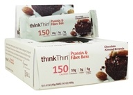 Think Products - thinkThin Lean Protein & Fiber Bars Box Chocolate Almond Brownie - 10 Bars