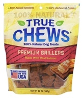 True Chews - Premium Grillers Dog Treats Made With Real Salmon - 12 oz.