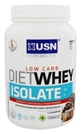 USN Supplements - Diet Whey Isolate Low Carb Cinnamon Bun - 1.54 lbs.