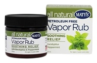 Maty's Healthy Products - All Natural Vapor Rub - 1.5 oz.