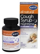 Maty's Healthy Products - All Natural Cough Syrup Nighttime for Children - 4 oz.