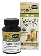 Maty's Healthy Products - Organic Mucus Cough Syrup - 4 oz.