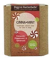 Biggs & Featherbelle - Holiday Handmade Natural Bar Soap Cinna Mint - 3.5 oz.