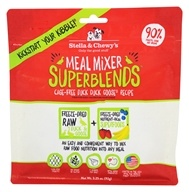 Stella & Chewy's - Freeze-Dried Meal Mixer SuperBlends for Dogs Cage-Free Duck & Goose - 3.25 oz.