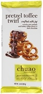 Chuao - Gourmet Dark Chocolate Bar Pretzel Toffee Twirl - 2.8 oz.