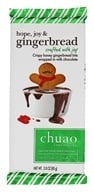 Chuao - Gourmet Milk Chocolate Bar Hope, Joy and Gingerbread - 2.8 oz.
