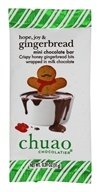 Chuao - Gourmet Milk Chocolate Mini Bar Hope, Joy and Gingerbread - 0.39 oz.