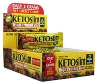Nature's Plus - KETOslim High Protein Bars Box Chocolate Almond Crunch - 12 Bars