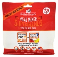 Stella & Chewy's - Freeze-Dried Meal Mixer SuperBlends for Dogs Grass-Fed Beef - 3.25 oz.