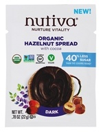 Nutiva - Organic Hazelnut Spread with Cocoa Dark - 0.78 oz.