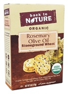 Back To Nature - Organic Stoneground Wheat Crackers Rosemary Olive Oil - 6 oz.