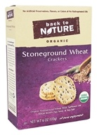 Back To Nature - Organic Stoneground Wheat Crackers Original - 6 oz.