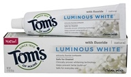 Tom's of Maine - Natural Luminous White Fluoride Toothpaste Clean Mint - 4.7 oz.
