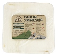 EcoSouLife - Palm Leaf Square Plates - 5 Piece(s)