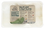 EcoSouLife - Palm Leaf Part Plates - 5 Piece(s)