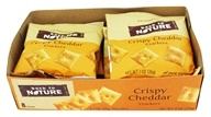 Back To Nature - Cracker Snack Packs Crispy Cheddar - 8 Pouches