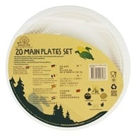 EcoSouLife - Cornstarch Main Plates - 20 Piece(s)