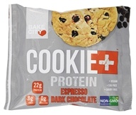 Cookie+Protein - Protein Cookie Espresso Dark Chocolate Chip - 4 once.