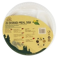 EcoSouLife - Cornstarch Divided Meal Plates - 20 Piece(s)