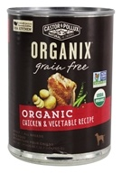 Castor & Pollux - Organix Grain Free Canned Dog Food Chicken and Vegetable Recipe - 12.7 oz.