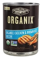 Castor & Pollux - Organix Canned Dog Food Chicken and Brown Rice Recipe - 12.7 oz.