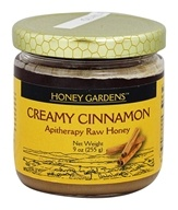 Honey Gardens Apiaries - Apitherapy Raw Honey Creamy Cinnamon - 9 oz.