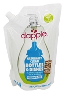 Dapple - Pure and Clean Bottle & Dish Liquid Refill Fragrance Free - 34 oz.