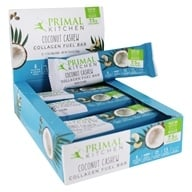Primal Kitchen - Gluten-Free Coconut Cashew Bar Made with Grass-Fed Collagen - 12 Bars