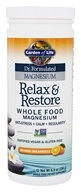 Garden of Life - Dr. Formulated Magnesium Relax & Restore Orange Dreamsicle - 6.9 oz.