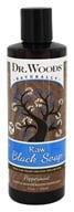 Dr. Woods - Liquid Raw Black Soap with Fair Trade Shea Butter Peppermint - 8 oz.