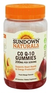 Sundown Naturals - Co Q-10 Gummies Peach Mango 200 mg. - 50 Gummies