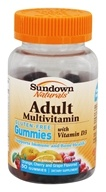 Sundown Naturals - Adult Multivitamin Gluten-Free Gummies with Vitamin D3 Orange, Cherry and Grape - 50 Gummies