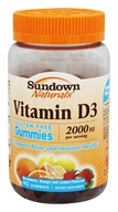 Sundown Naturals - Vitamin D3 Gluten-Free Gummies Strawberry, Orange and Lemon 2000 IU - 90 Gummies