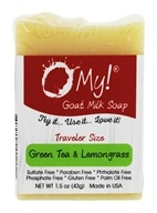 O My! - Traveler Goat Milk Soap Green Tea & Lemongrass - 1.5 oz.