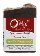 O My! - Traveler Goat Milk Soap Vanilla Sandalwood - 1.5 oz.