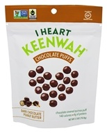I Heart Keenwah - Chocolate Quinoa Puffs Dark Chocolate Peanut Butter - 2.5 oz.