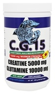 Angry Supplements - C.G. 15 Creatine + Glutamine Powder Unflavored 15000 mg. - 450 Grams