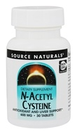 Source Naturals - N-Acetyl Cysteine 600 mg. - 30 Tablets