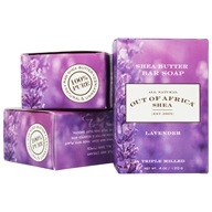 Out Of Africa - Pure Shea Butter Bar Soaps Lavender - 3 Pack