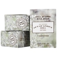 Out Of Africa - Pure Shea Butter Bar Soaps Unscented - 3 Pack