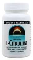 Source Naturals - L-Citrulline Free-Form 1000 mg. - 30 Tablets