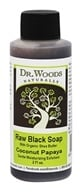Dr. Woods - Raw Black Soap with Organic Shea Butter Coconut Papaya - 2 oz.