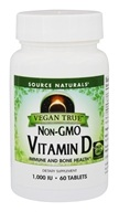 Source Naturals - Vegan True Vitamin D Non-GMO 1000 IU - 60 Tablets
