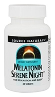 Source Naturals - Melatonin Serene Night - 60 Tablets