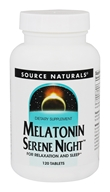 Source Naturals - Melatonin Serene Night - 120 Tablets