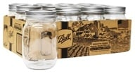 Ball - Smooth Sided Regular Mouth Pint Mason Jars - 12 Count