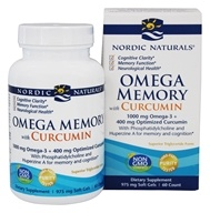 Nordic Naturals - Omega Memory with Curcumin - 60 Softgels