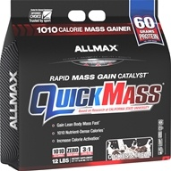 AllMax Nutrition - QuickMass Rapid Mass Gain Catalyst Cookies and Cream - 12 lbs.
