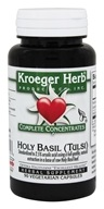Kroeger Herbs - Holy Basil (Tulsi) Complete Concentrate - 90 Vegetarian Capsules