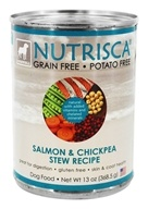 Dogswell Nutrisca - Canned Dog Food Salmon and Chickpea Stew - 13 oz.